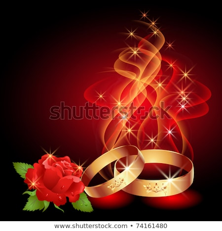 golden wedding rings and smoke Stock photo © prill