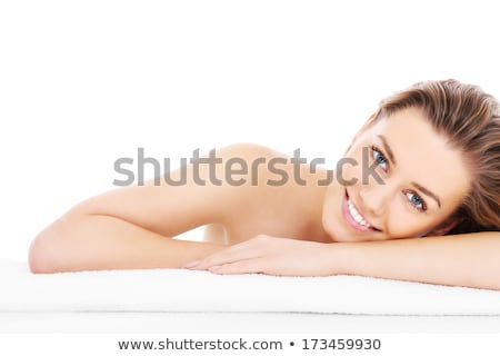 Body care - beautiful woman with towel stock photo © CandyboxPhoto