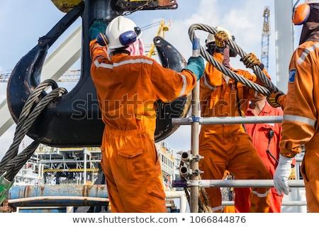 construction barge Stock photo © jeayesy