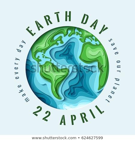 Yeşil dünya soyut örnek ekoloji Stok fotoğraf © pkdinkar
