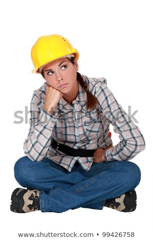 A grumbling tradeswoman Stock photo © photography33