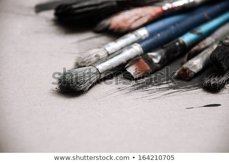 Painting brushes and art pallete Stock photo © homydesign