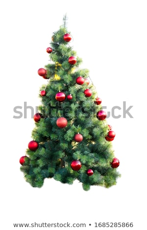 Christmas Tree Baubles on Turquoise Stock photo © frannyanne