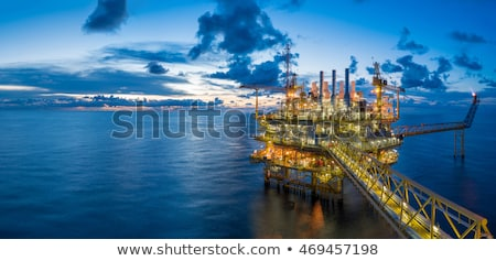 oil rig in the field stock photo © justinb