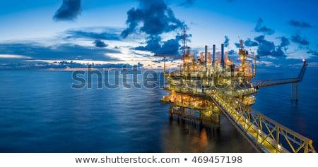 Fúrótorony mező olajkút kék ég üzlet természet Stock fotó © justinb
