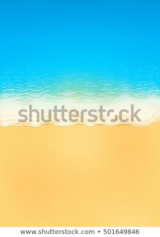 sztuki · pusty · lata · plaży · piasek · na · plaży · ściany - zdjęcia stock © Konstanttin