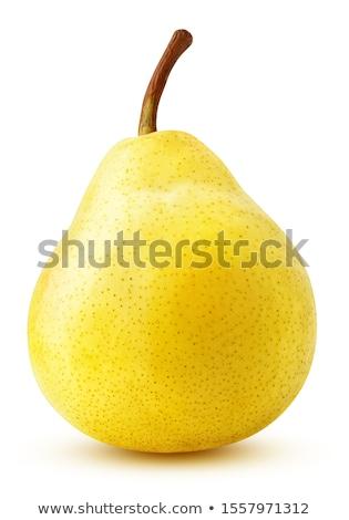 twee · Geel · peren · witte · voedsel · blad - stockfoto © smithore