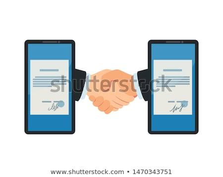 handshake between two businessmen stock photo © feedough