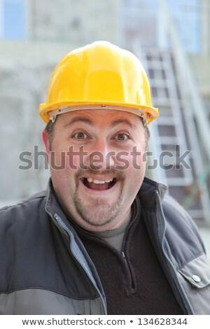 興奮した ぽってり マニュアル ワーカー 笑顔 顔 ストックフォト © photography33