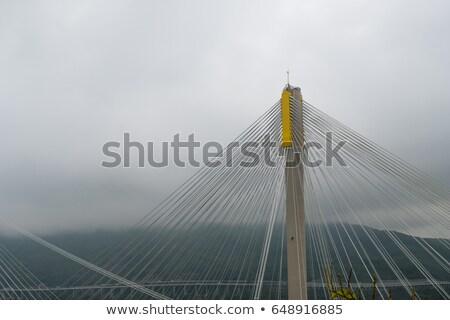 Ting Kau Bridge in Hong Kong, close-up.  Stock photo © kawing921