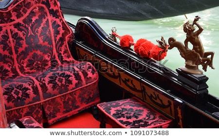 Gôndola Veneza Itália cadeiras cidade Foto stock © frank11