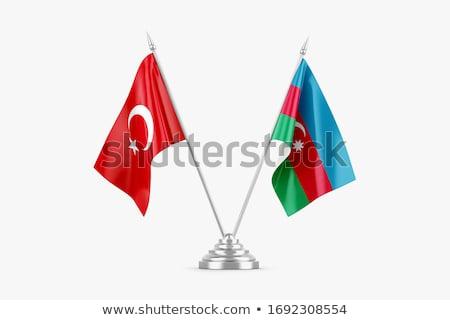 Miniatura banderą Azerbejdżan odizolowany spotkanie Zdjęcia stock © bosphorus