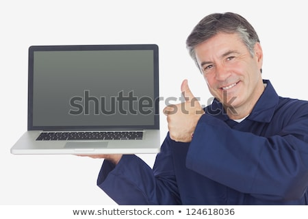 A manual worker holding a laptop Stock photo © photography33