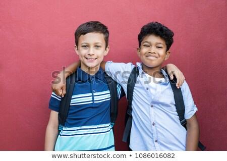 Stałego strony uśmiechnięty kamery Zdjęcia stock © stockyimages
