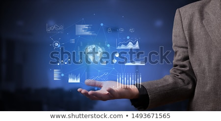 Man holding a plan and a globe Stock photo © photography33