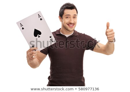 Man with spade giving thumbs-up gesture Stock photo © photography33