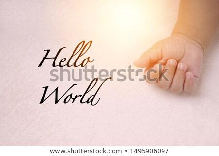 歓迎 · 赤ちゃん · カード · 面白い · 服 · 歳の誕生日 - ストックフォト © balasoiu