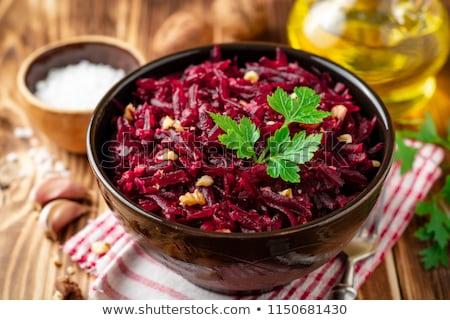 salade · saladeschaal · tabel · natuur · achtergrond · eten - stockfoto © m-studio