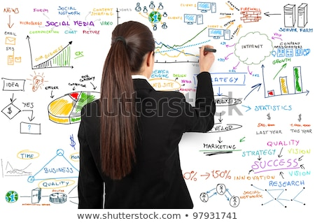 Businesswoman draw modern business concept  Stock photo © REDPIXEL