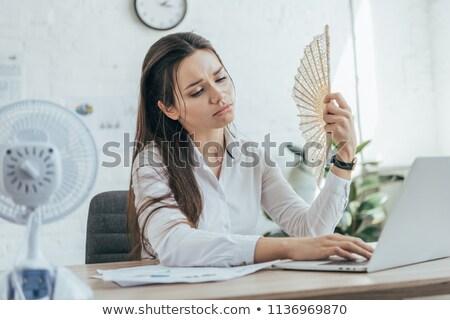 женщину компьютер вентилятор процессор Сток-фото © smithore