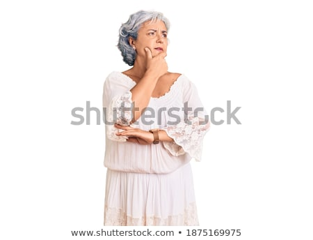 Stock photo: woman wearing bohemian clothes wondering