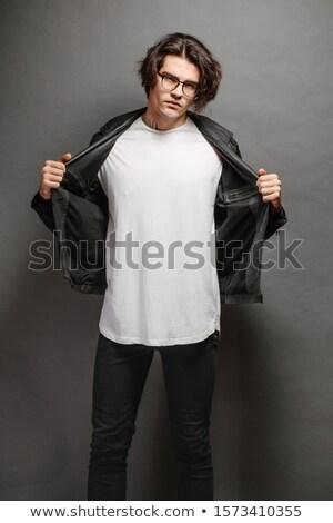 fickó · trendi · lezser · visel · pózol · stílus - stock fotó © stockyimages