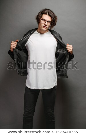 Foto stock: Tipo · de · moda · casual · desgaste · posando · estilo