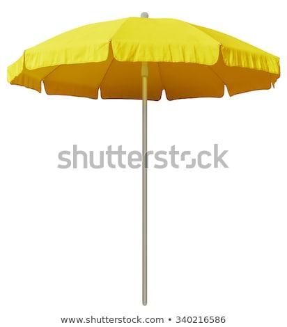 Foto stock: Uarda-chuva · de · praia · amarelo