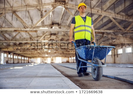 Builder carriola business costruzione sfondo lavoratore Foto d'archivio © photography33