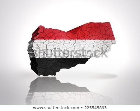 флаг Йемен кирпичная стена окрашенный Гранж текстуры Сток-фото © creisinger