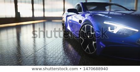 luxe · sport · auto · Blauw · licht · ontwerp - stockfoto © shutswis