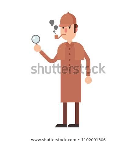 Funny Sherlock Holmes Stock photo © pcanzo