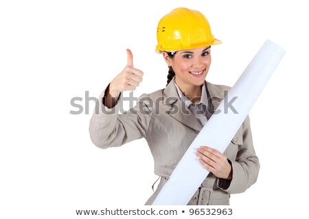 Cheery female architect giving the go-ahead Stock photo © photography33