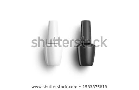 Nagellak ingesteld geïsoleerd witte mode schoonheid Stockfoto © shutswis