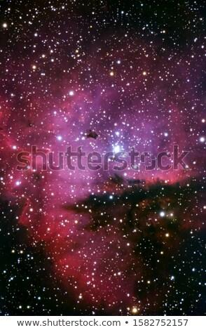 nebula · gökyüzü · güneş · ışık · mavi · kırmızı - stok fotoğraf © rwittich
