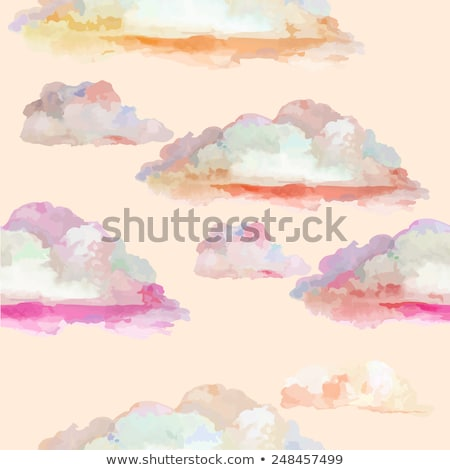 art lilac flowers on a background of blue sky stock photo © konstanttin