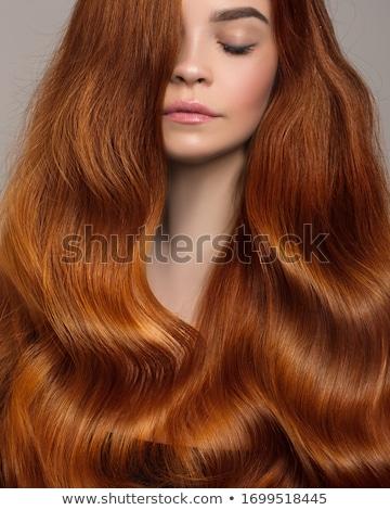 グラマラス · 女性 · 長い · 茶色の髪 · 肖像 · 女性 - ストックフォト © wavebreak_media