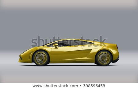 yellow supercar isolated on white  Stock photo © goce