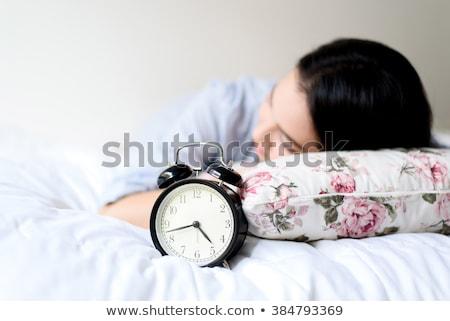 Focus будильник спальный женщину ночь спальня Сток-фото © wavebreak_media