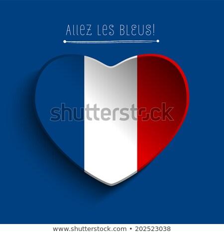 France Flag Heart Paper Sticker stock photo © gubh83