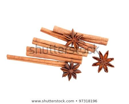 Duftenden Zimt isoliert weiß string Stick Stock foto © sarahdoow