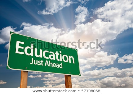 Stok fotoğraf: Eğitim · mavi · bilgisayar · kâğıt · okul