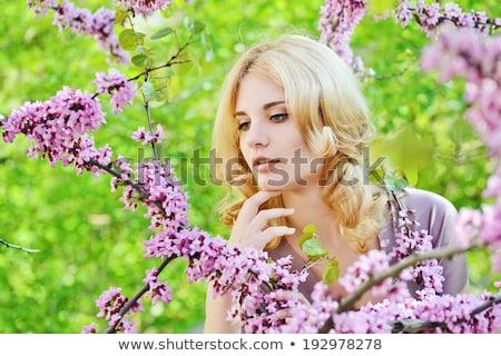 moda · genç · romantik · kadın · koku · bahar - stok fotoğraf © maxpro