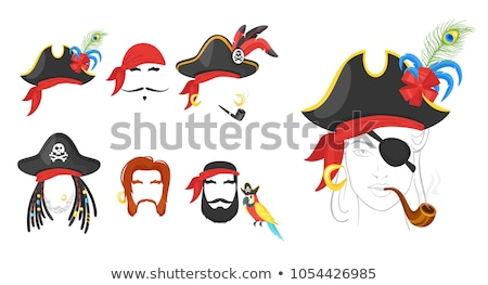 pirate · halloween · image · yeux · médicaux · éducation - photo stock © zzve