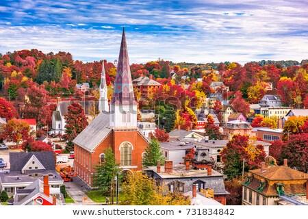 novo · inglaterra · cair · outono - foto stock © donland
