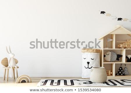 Gyermek szoba belső gyönyörű család gyerekek Stock fotó © tannjuska