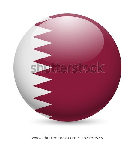 Düğme Katar harita ülke haritaları afiş Stok fotoğraf © Ustofre9