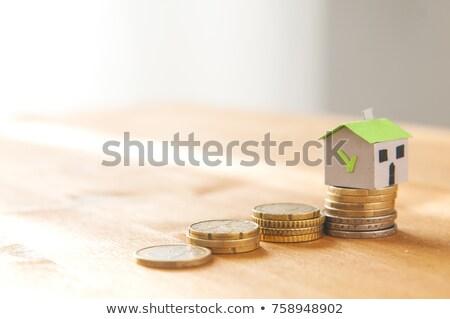 grafik · evler · kâğıt · ahşap · iş · para - stok fotoğraf © sqback
