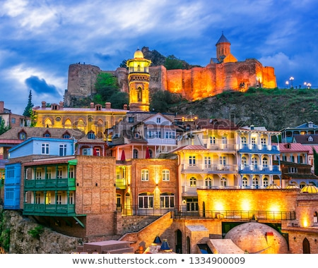 old town in tbilisi by night stock photo © tarczas