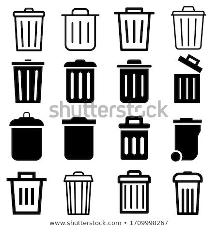 мусорный ящик вектора Гранж белый eps10 файла Сток-фото © kovacevic